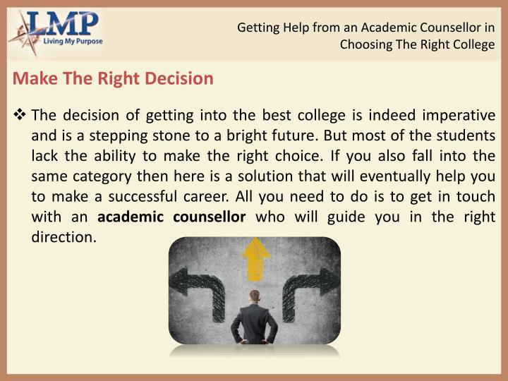 Getting Help from an Academic Counsellor in