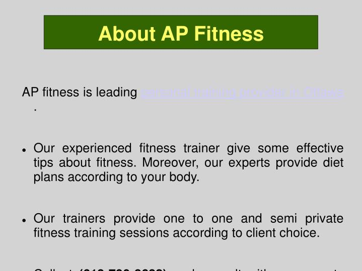 About AP Fitness