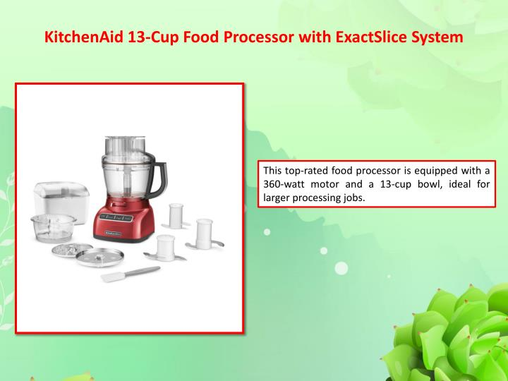 Kitchenaid 13 cup food processor with exactslice system1