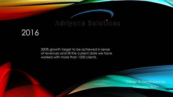 300% growth target to be achieved in sense of revenues and till the current date we have worked with more than 1200 clients.