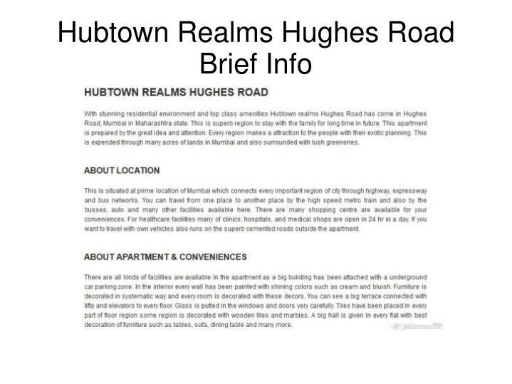 Hubtown Realms Hughes Road