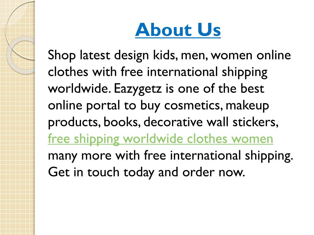 Online Clothes Free International Shipping 15 Cheap Online