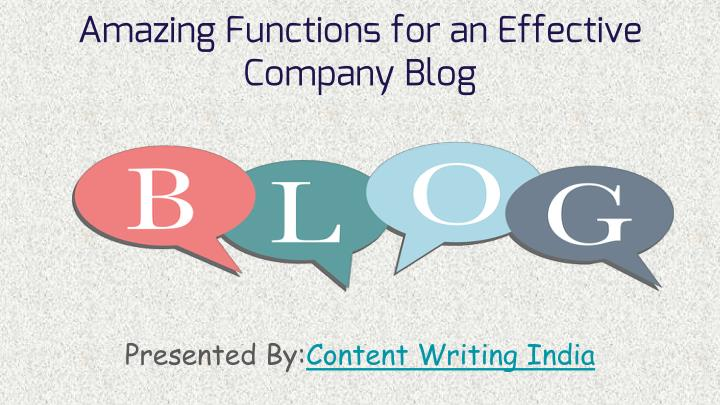 amazing functions for an effective company blog n.