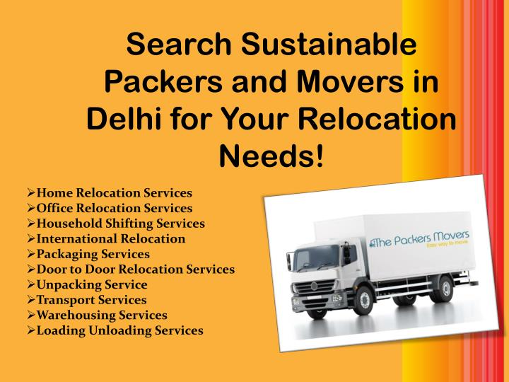search sustainable packers and movers in delhi for your relocation needs n.