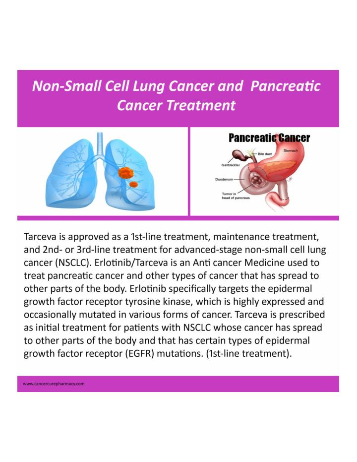 PPT - Non small cell lung cancer-Pancreatic cancer Treatment
