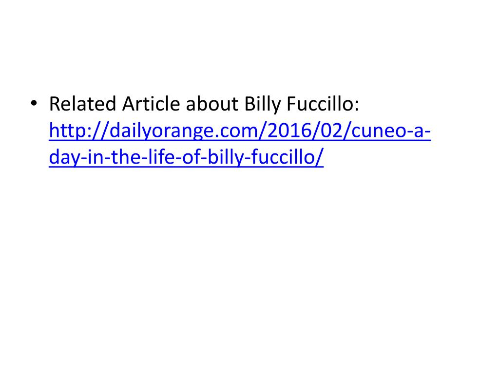 PPT - Billy Fuccillo Jr  powers his own auto empire