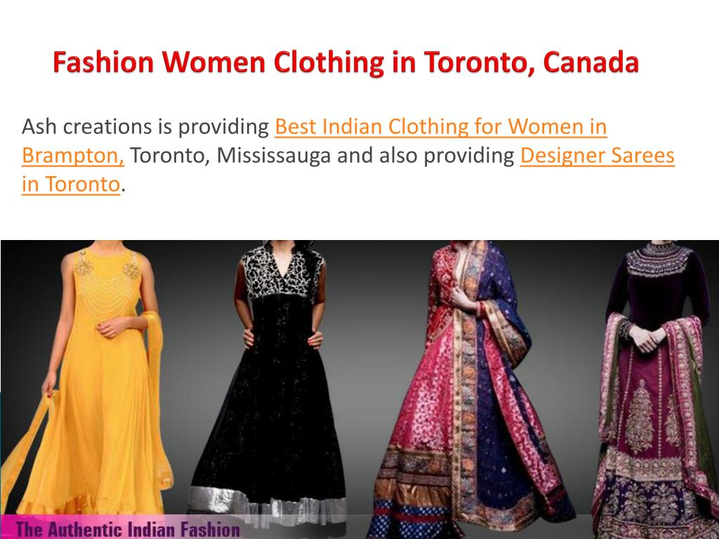 Ppt Best Indian Clothing Store In Toronto Canada Powerpoint Presentation Id 7454771
