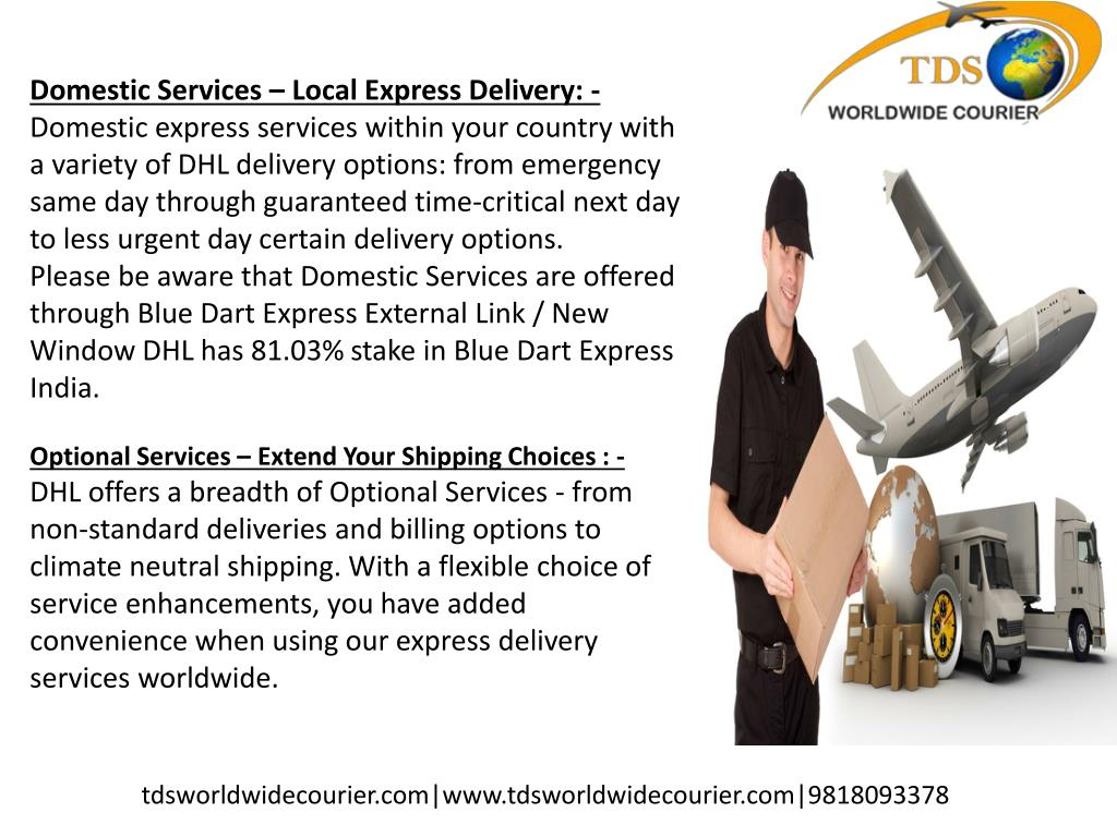 PPT - DHL COURIER SERVICE : 9818093378 BEST IN DELHI, CANADA, USA