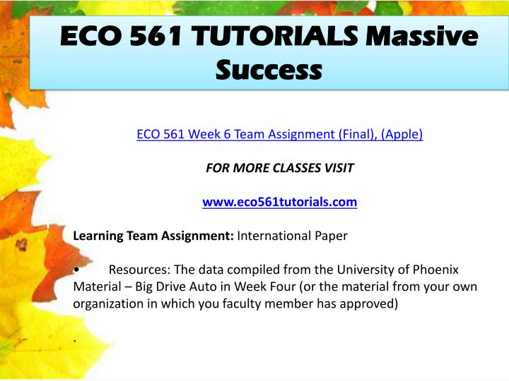 eco 561 week 3 team deliverable Eco 561 week 5 learning team deliverable, eco 561 week 5 learning team deliverable a++ graded.