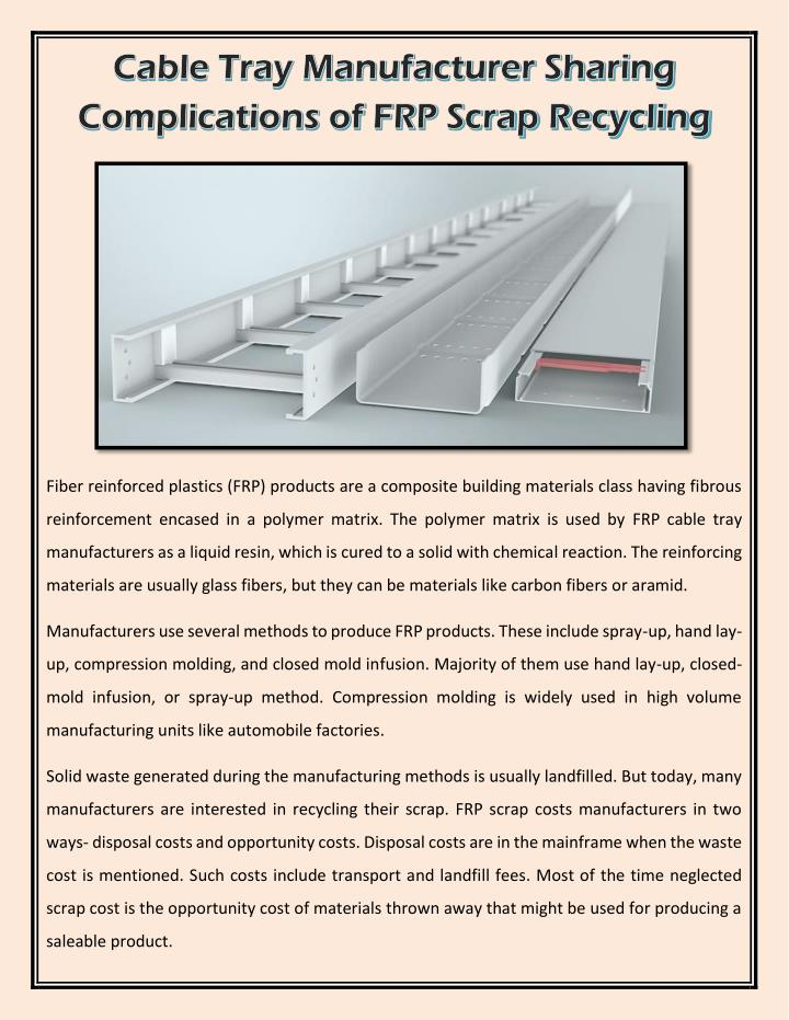 PPT - Cable Tray Manufacturer Sharing Complications of FRP