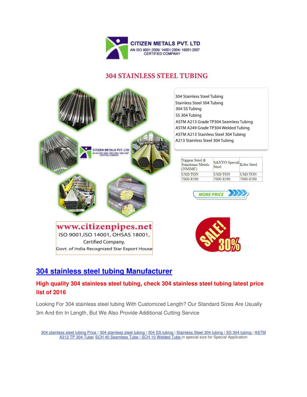PPT - 304L stainless steel pipe PowerPoint Presentation - ID:7457113