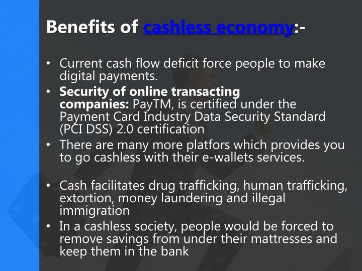 benefits of cashless society