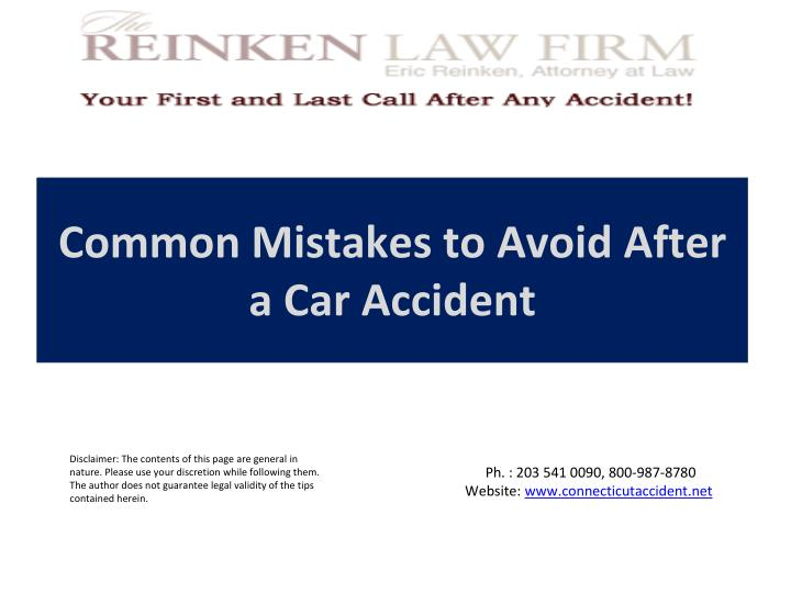 common mistakes to avoid after a car accident n.