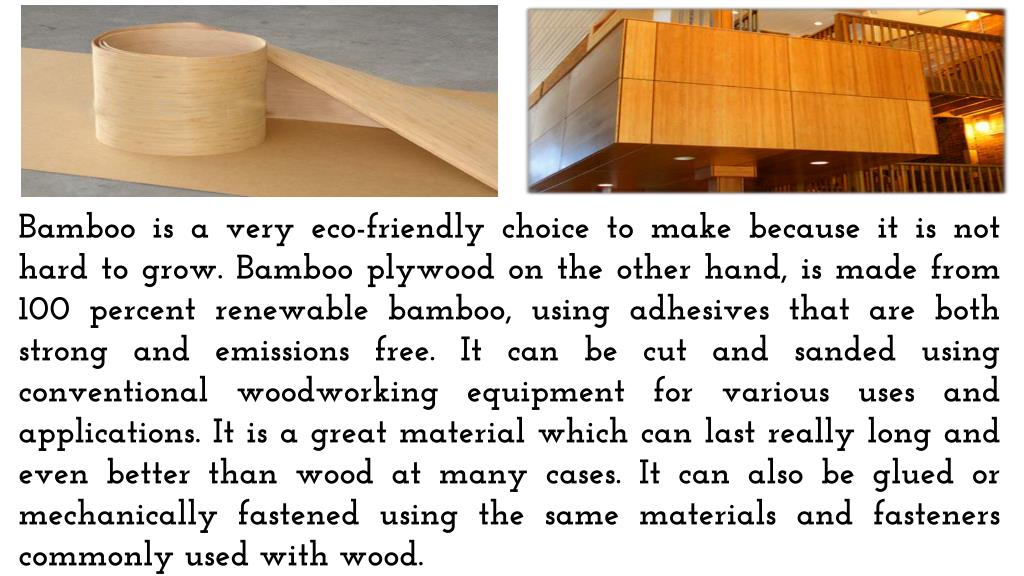 PPT - How Is Bamboo Plywood Efficient? PowerPoint