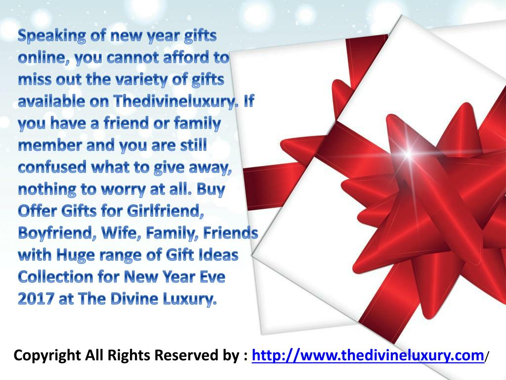 PPT - New Year Gifts For Husband, Wife, Boyfriend ...