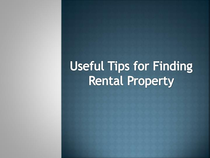 useful tips for finding rental property n.