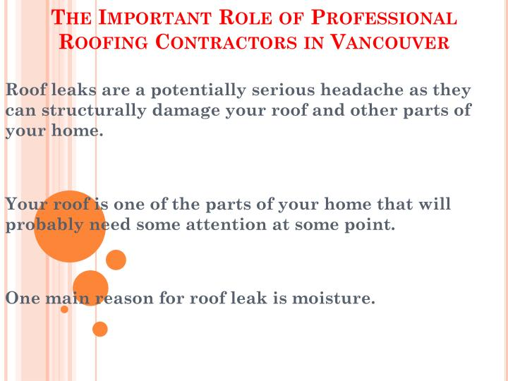 the important role of professional roofing contractors in vancouver n.