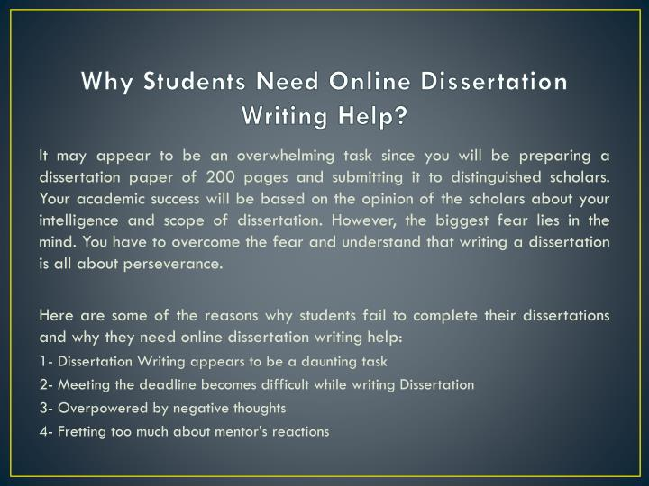 Professional Dissertations Services from Experienced Writers