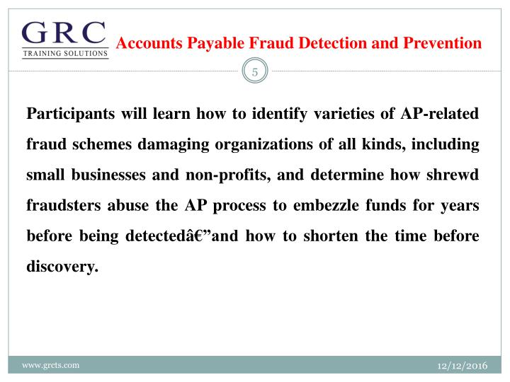 fraud detection and prevention Fraud detection and prevention when it comes to protecting a network from  fraud, organizations need to keep a watchful eye on a wide range of activities that .