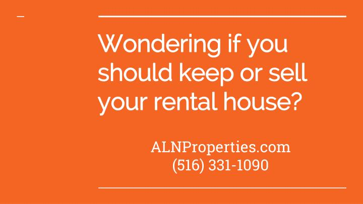 wondering if you should keep or sell your rental house n.