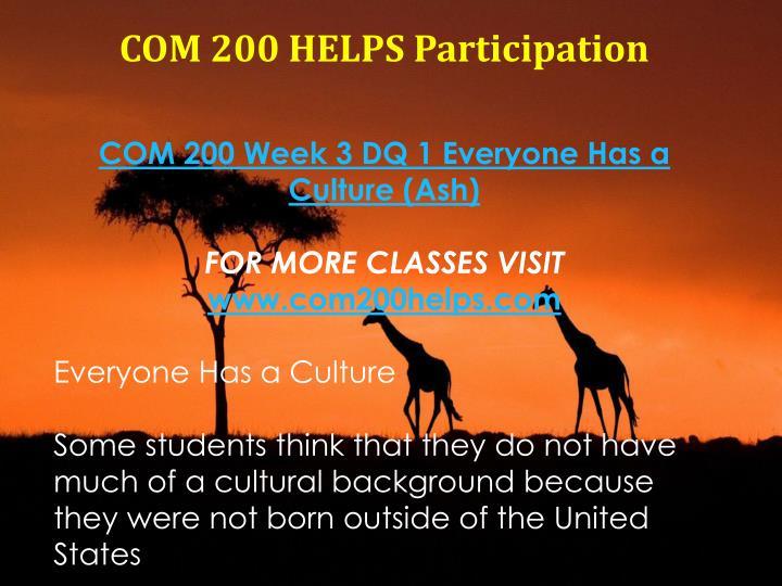 com 200 week 1 assignment