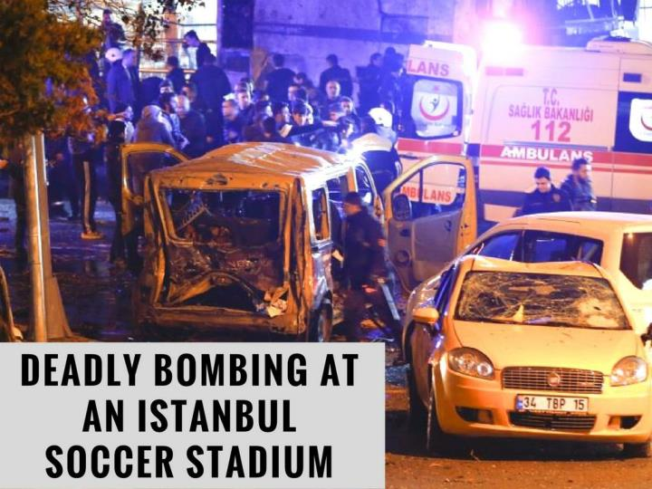 dangerous shelling at an istanbul soccer stadium n.