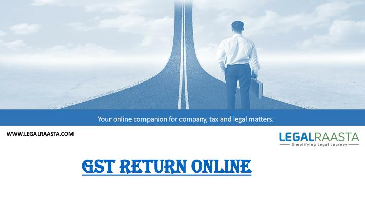 how to go a gst return for a company