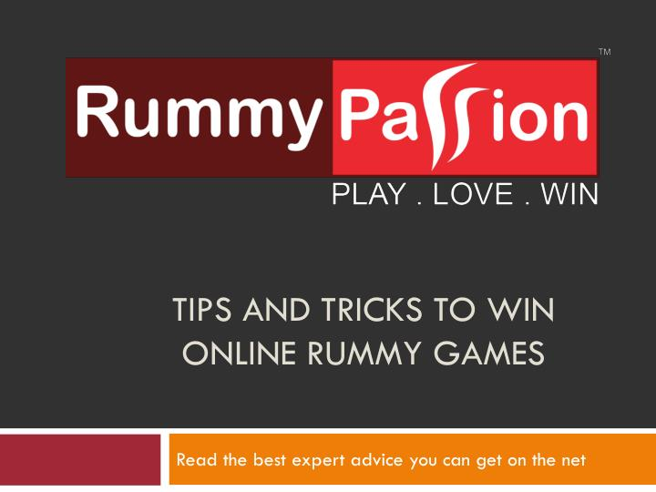 tips and tricks to win online rummy games n.
