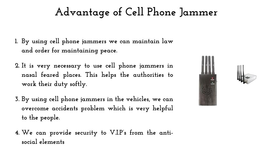 PPT - Cell Phone Jammer Advantage & Disadvantage PowerPoint