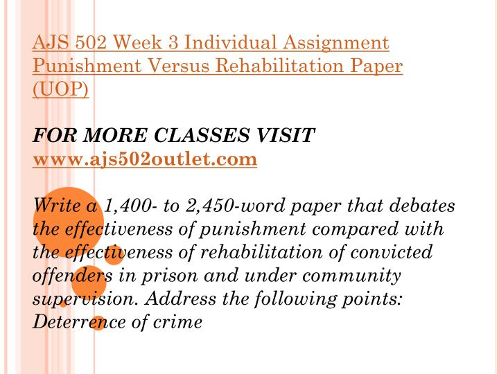 """the effectiveness of punishment compared with the effectiveness of rehabilitation of convicted offen Convicted in circuit courts is 20 months5 most drug prisoners will return to the community  """"treatment appears to be cost effective, particularly when compared to incarceration, which is often the alternative  exit, such as the community options programs (cop) including regimented offender treatment centers, day reporting, intensive."""