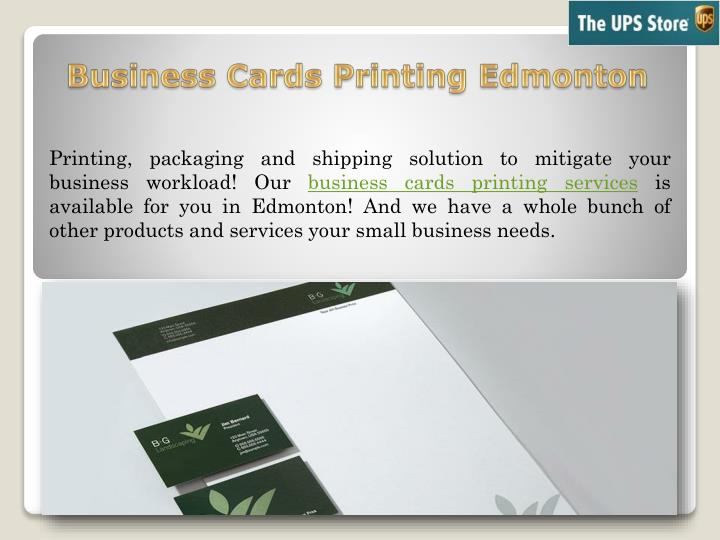 Ppt Choose Business Cards Printing Service In Edmonton From The