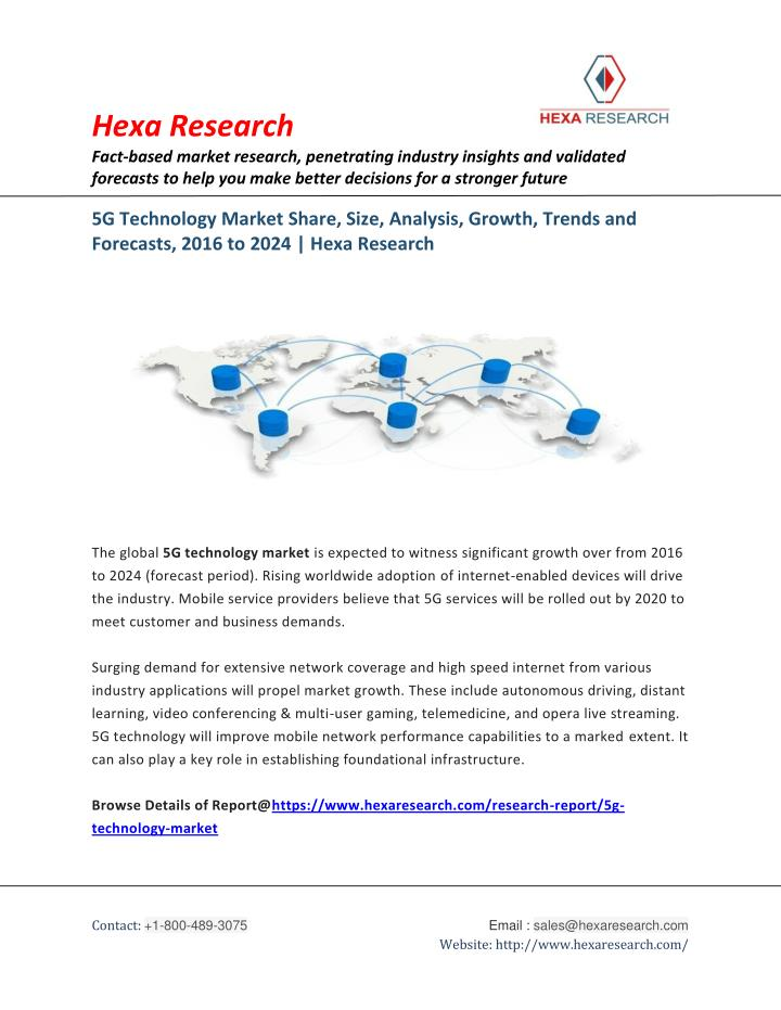 PPT - 5G Technology Market Analysis, Size, Share, Growth and
