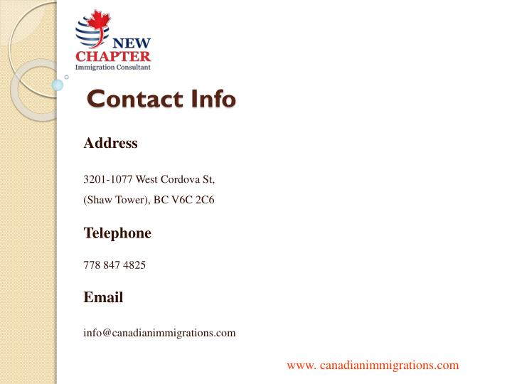 contact info n.