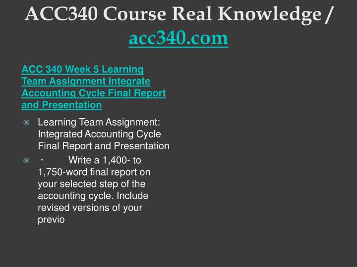 integrated accounting cycle final report