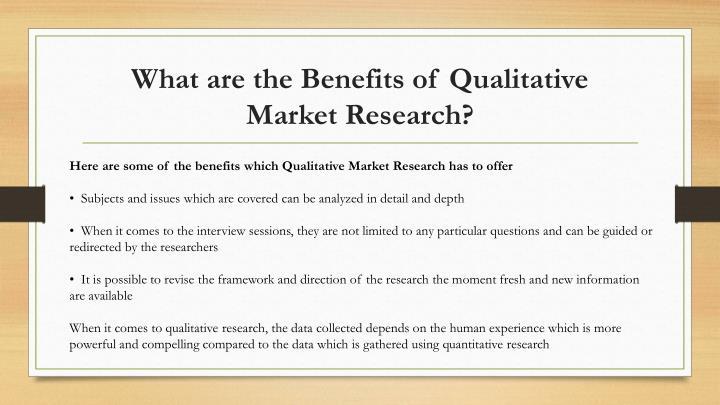 Methods of qualitative Market research