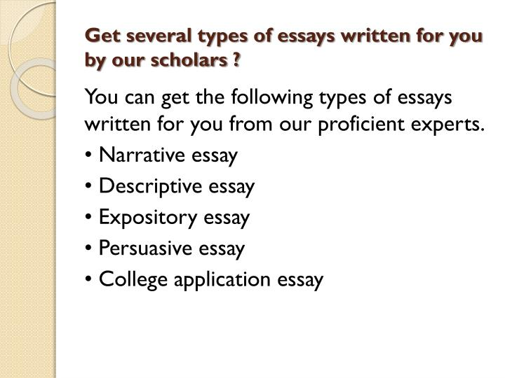 types essay for you Need to write an essay or a general paper order papers from on time professional academic writing services essay4today we do much work for less money just place an order and control the writing process like other students do.