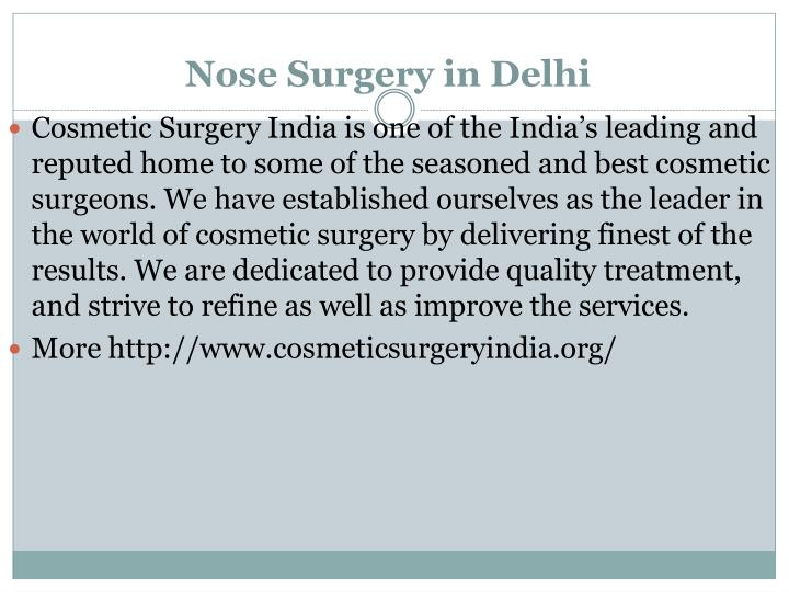nose surgery in delhi n.