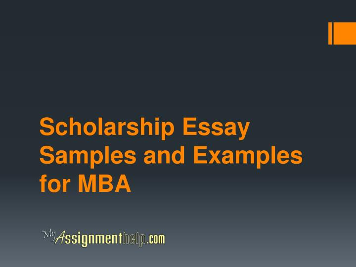 scholarship essay samples and examples for mba n.