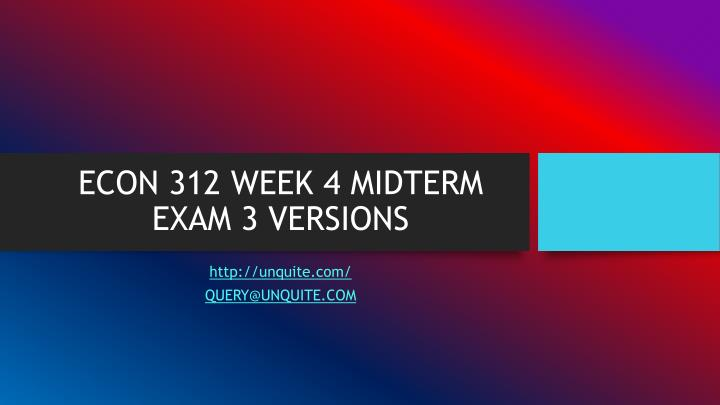 week 4 midterm Fin 515 week 4 midterm click the link to get answers:   fin 515 week 4 midterm 1 (tco a) which of the.