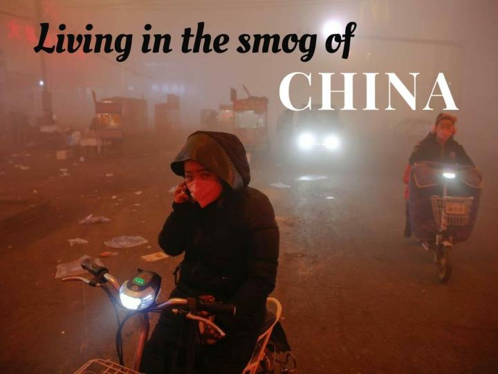living in the exhaust cloud of china n.
