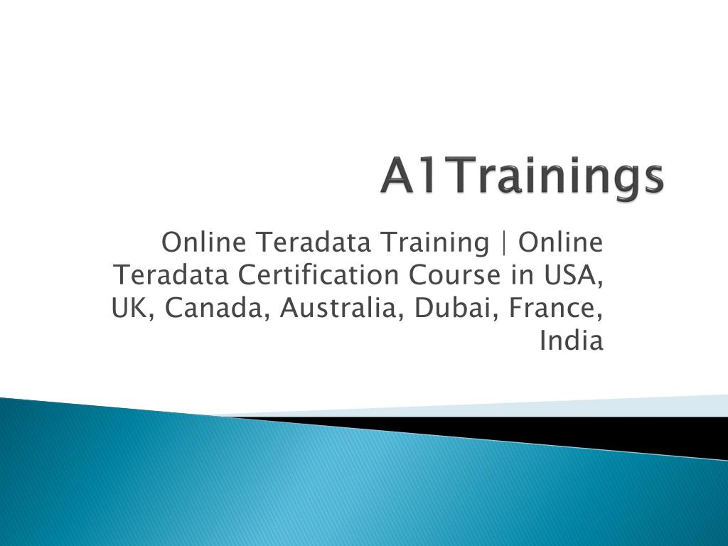 Ppt Online Teradata Training Online Teradata Certification