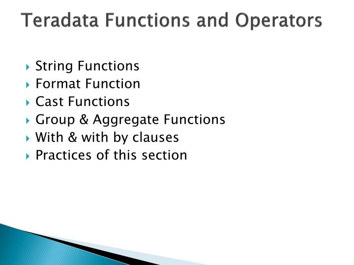 PPT - Online Teradata Training | Online Teradata Certification ...