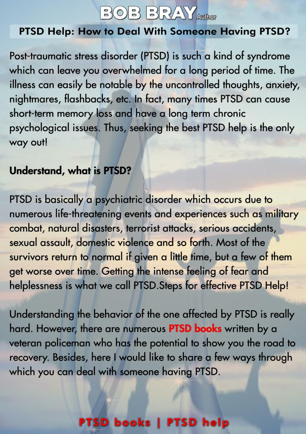 How to deal with someone with ptsd