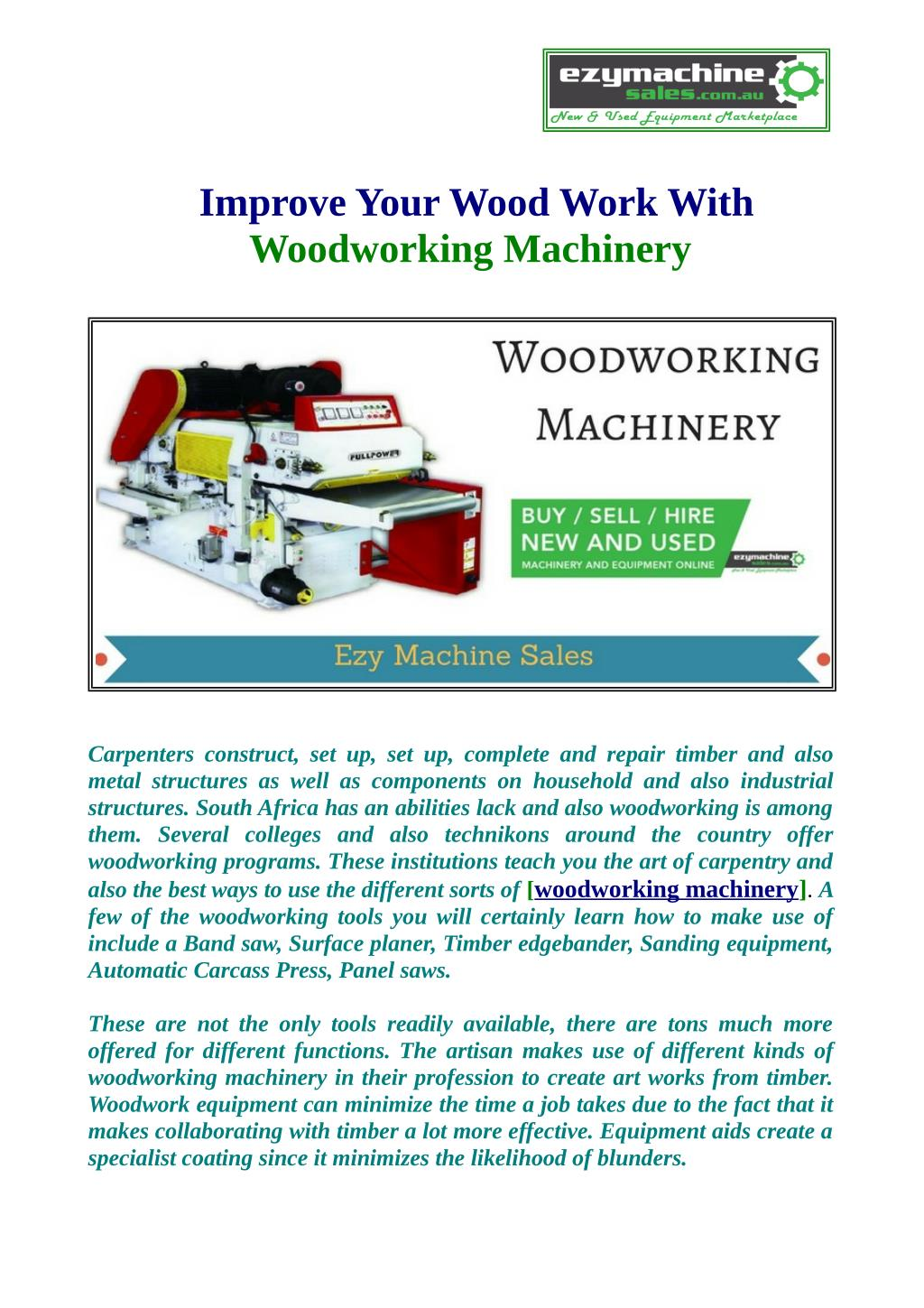 Ppt Use Woodworking Machinery And Improvement Your Wood Work Powerpoint Presentation Id 7466632