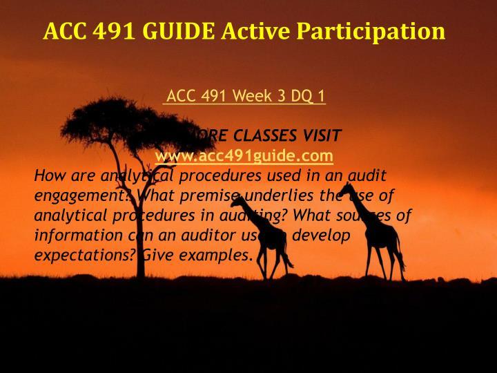 acc 491 week 3