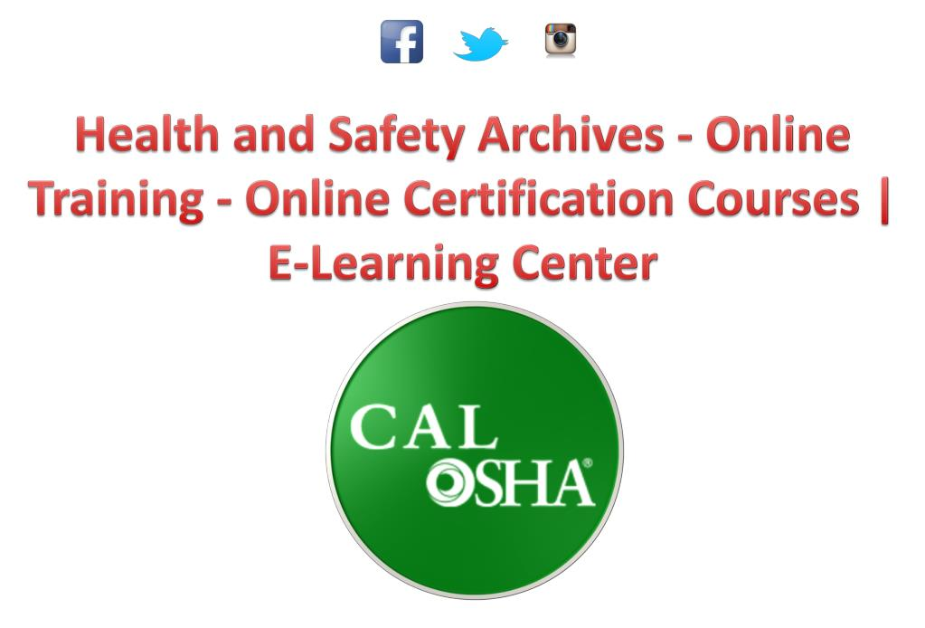 Ppt Osha Health And Safety Certifications Training Powerpoint