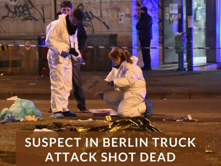 suspect in berlin truck assault shot dead n.