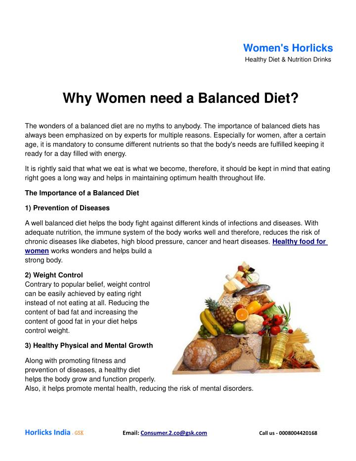 a look at the importance of nutrient and the need to have a balanced diet Why do you need a healthy, balanced diet by janet renee a balanced diet provides nutrients essential to why is a balanced diet important to maintaining a.