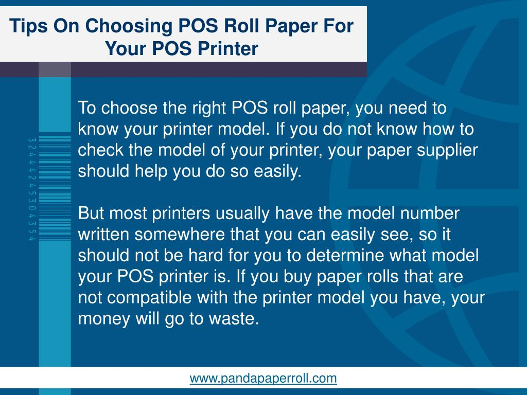 PPT - Tips On Choosing POS Roll Paper For Your POS Printer