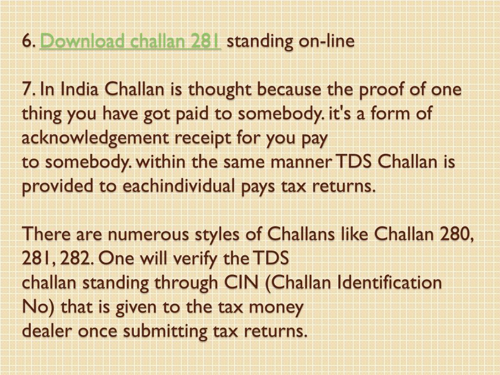 income tax challan 281 download